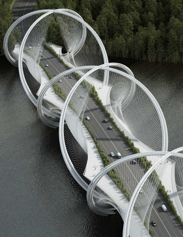 San Shan Bridge for Olympic Winter Games 2022 by Penda Architect