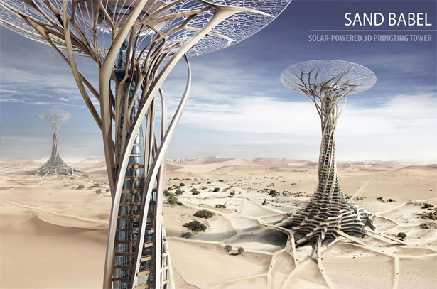 Sand Babel - Solar Powered 3D Printed Tower