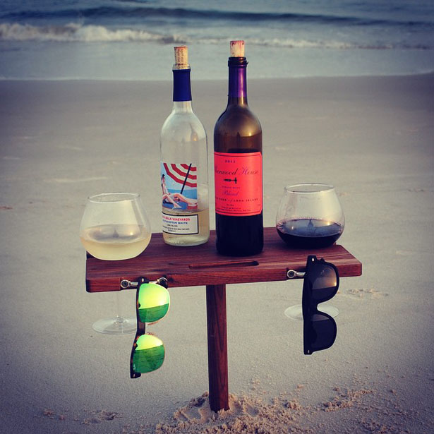 SandStand Portable Beverage Table for The Beach
