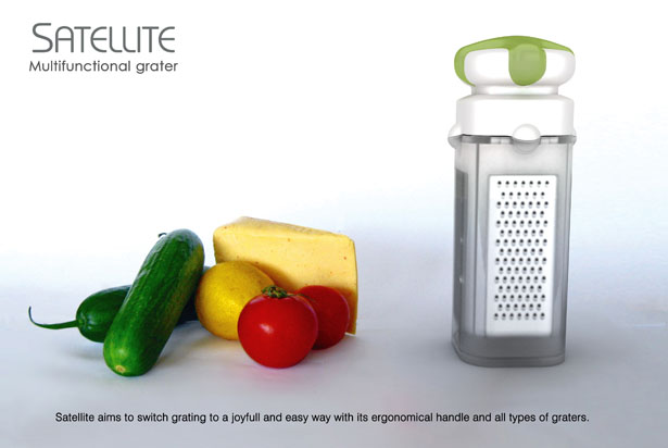 Satellite Multifunctional Grater by DesignNobis