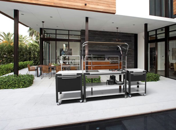 Satellite Outdoor Kitchen by Riccardo Randi, Riccardo Trabattoni, and Dario Distefano