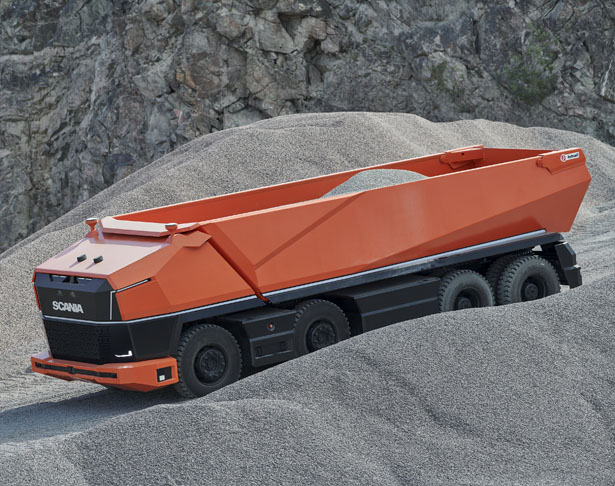 Scania AXL - a Fully Autonomous Concept Truck without Cab