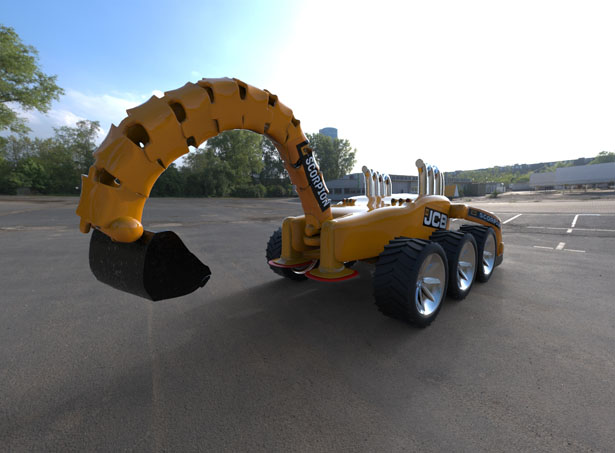 Excavator Hydraulic Arm Project : Scorpion concept excavator for jcb features greater degree