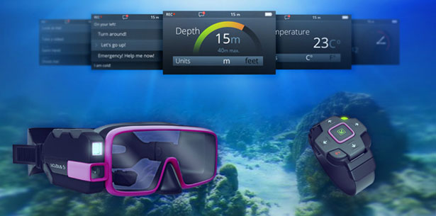 Scubus S - The World's First Augmented Reality scuba diving mask