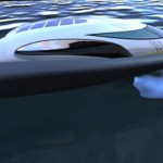 Sea Raider Futuristic Concept Boat with Solar Energy Panel on The Roof