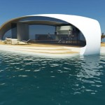 SeaScape Floating Villa Features Stylized Triangular Pontoon Base