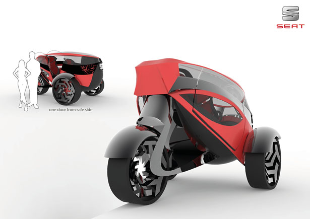 Seat ANT Concept Car for 2030 by Lolita Tinikashvili and Kristina Sazonova
