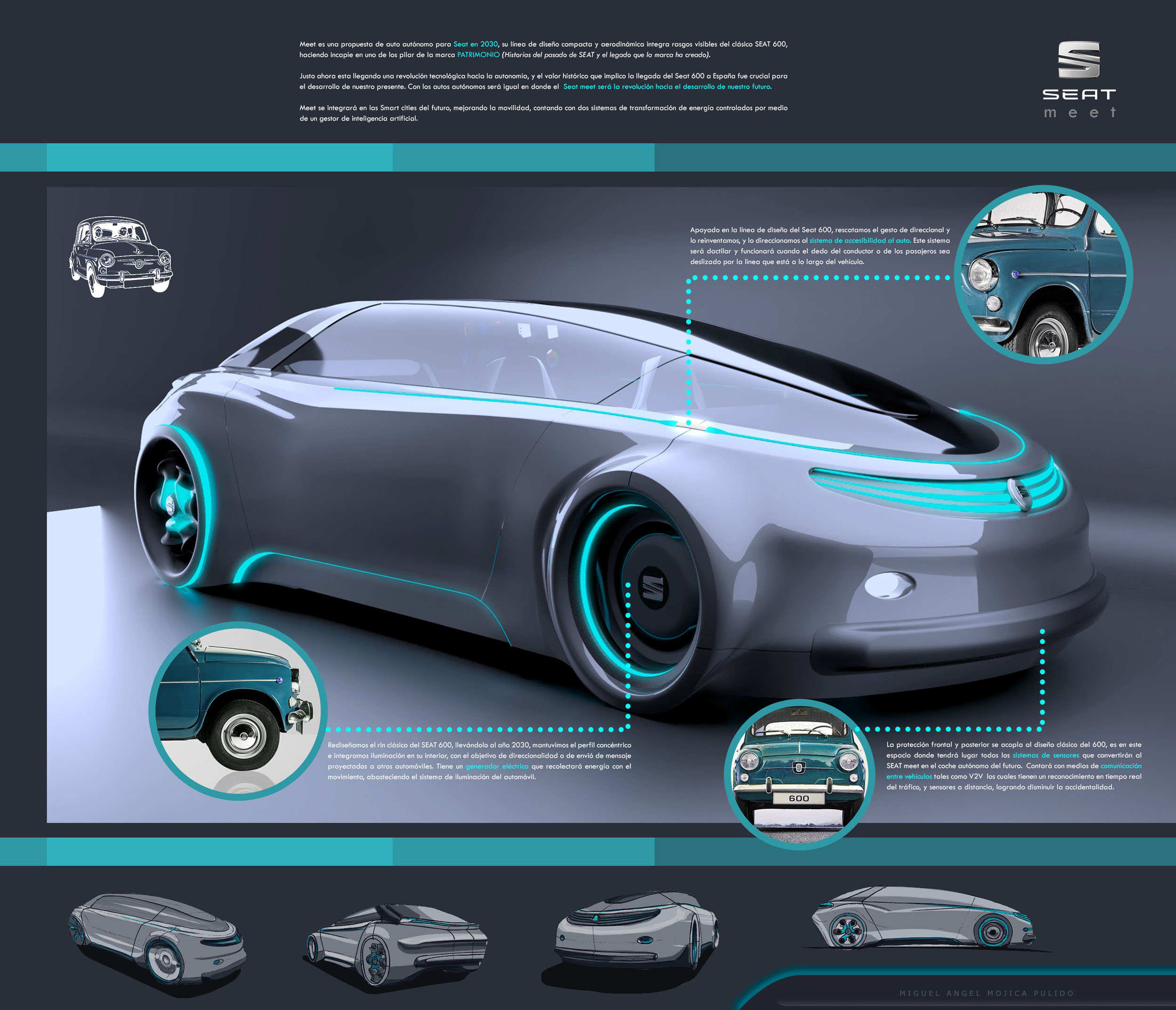 SEAT Meet Autonomous Car Concept Proposal For The Year Of