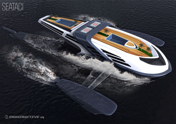 Seataci Concept Yacht by Martin Rico and Imaginactive