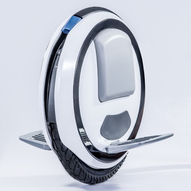 Ninebot One Self Balancing Unicycle Electric Scooter with LED Light and Training Wheels