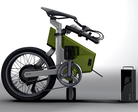 self rechargeable folding bike bicx