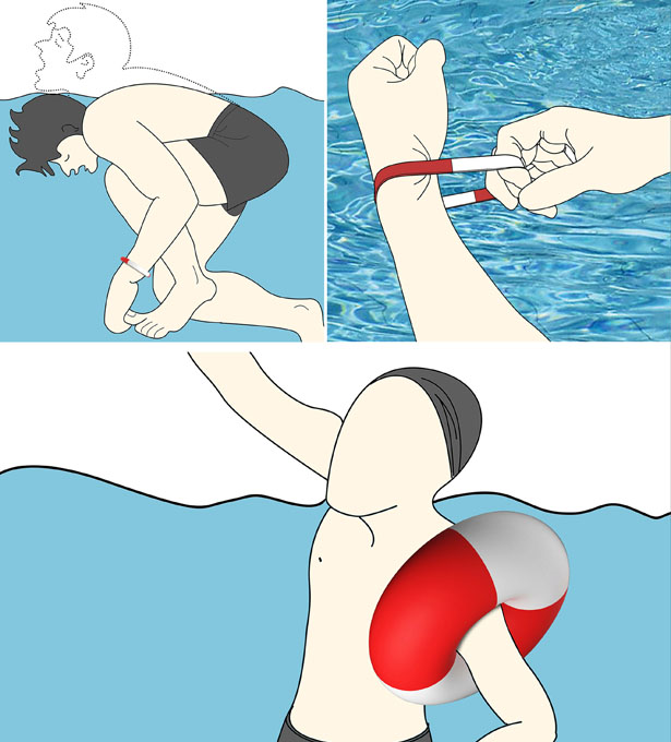 EG/_ Portable Floating Wristband Inflatable Swimming Drowning Lifesaving Bracelet
