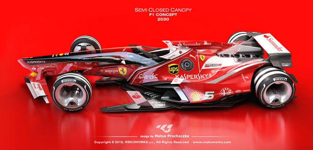 Semi Closed Canopy F1 Concept Car by Matus Prochaczka