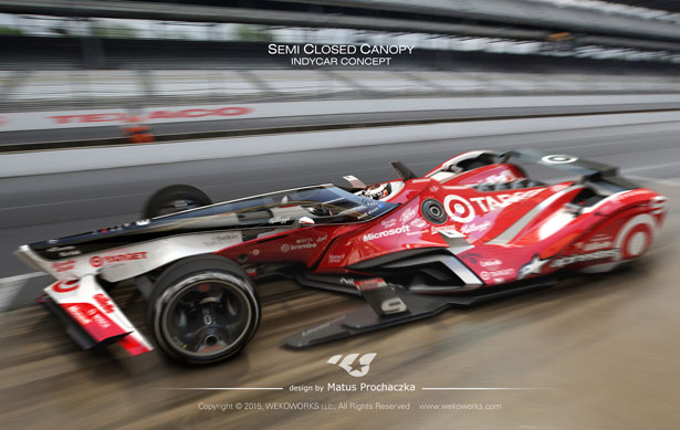 Semi Closed Canopy Indy Car Concept by Matus Prochaczka