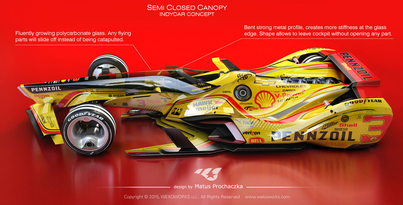 Semi Closed Canopy For Indy Car By Matus Prochaczka
