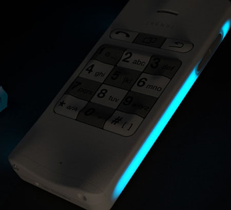 sens mobile phone concept for visual impair