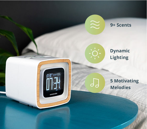 Sensorwake Trio Smell-Based Alarm Clock to Improve Your Day by Guillaume Rolland