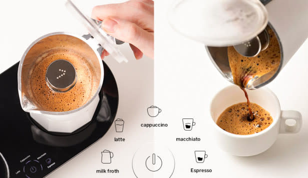 Seven & Me Espresso Maker Features 5 Programmed Modes and Auto Milk Frother