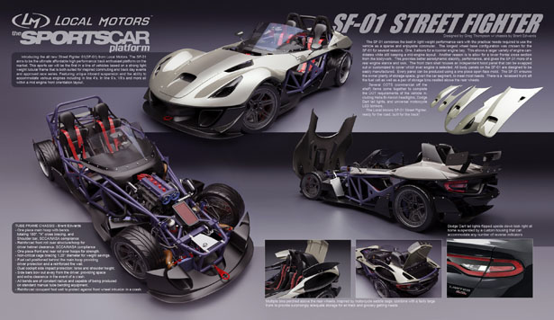 SF-01 Street Fighter Concept Car by Greg Thompson