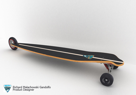 Feel The Sensation Of Riding 3-Wheeled Shark Longboar Skateboard