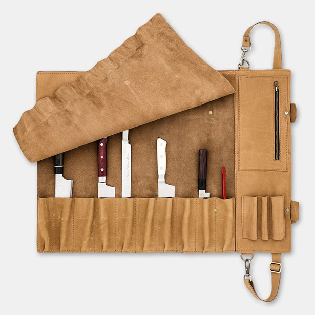 SharpEdge Leather Knife Roll For Up to 10 Knives