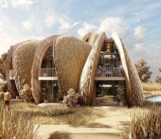 Shell House – Mussel Shaped Architectural Recreational Cottages in Koblevo, Ukraine