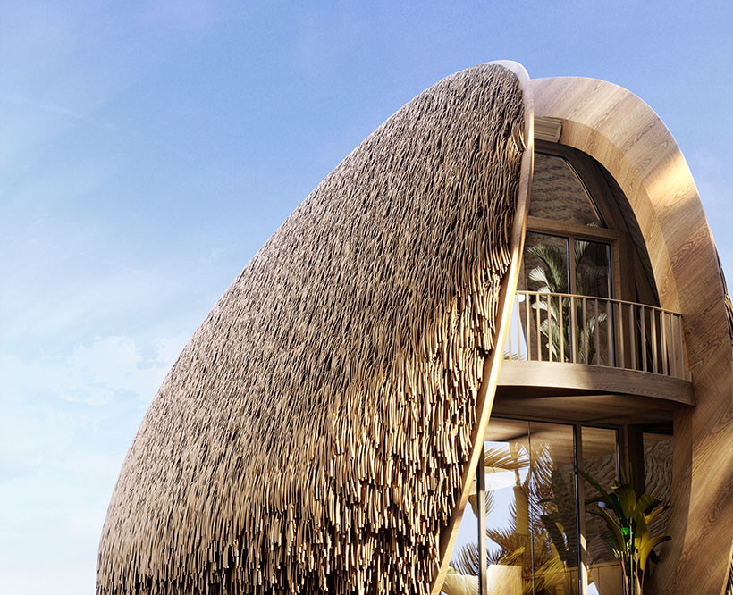 Shell House - Mussel Shaped Architectural House Designs by K&B Partners Architect