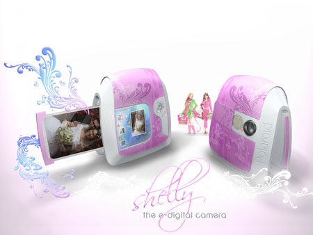 shelly polaroid digital camera concept