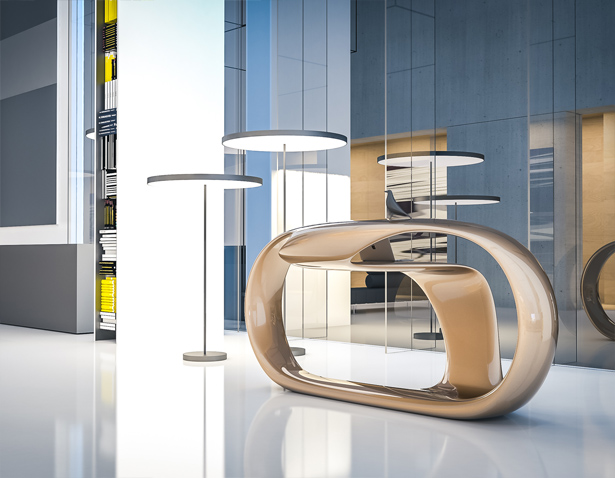 Shiba Reception Desk by Nuvist