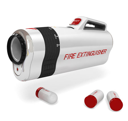 shooter fire extinguisher concept