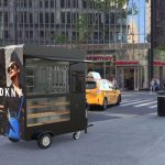 Show Media Mobile Café Sells Coffee and Advertising Space