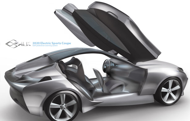 Mercedes Benz SILK Electric Sports Coupe with Pedestrian Warning System by Hyoungsoo Kim