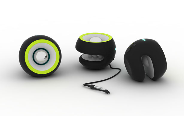 Single Portable Speaker Concept by Juliana Barona