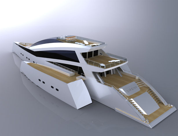 Sirena Trimaran Yacht by Adrian Smith and Matthew Jeffrey