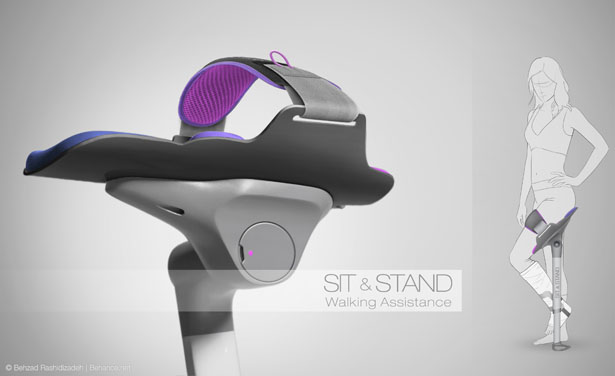 Sit and Stand Walking Assistance by Behzad Rashidizadeh