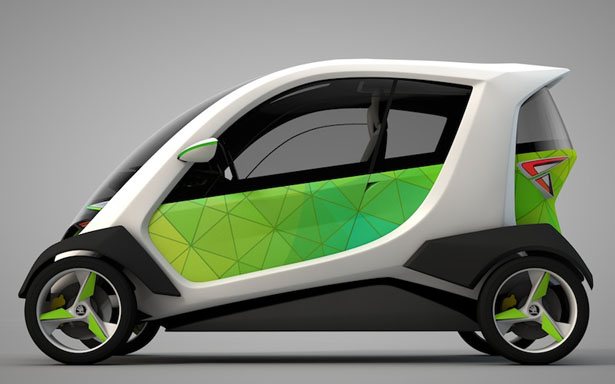 Skoda Kite Electric Car Concept Was Inspired By Sport Kite Tuvie