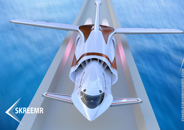Skreemr Concept Aircraft by Charles Bombardier and Ray Mattison