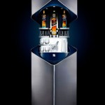 Sleek And Contemporary Indoor Private Bar From Porsche Design And Johnnie Walker