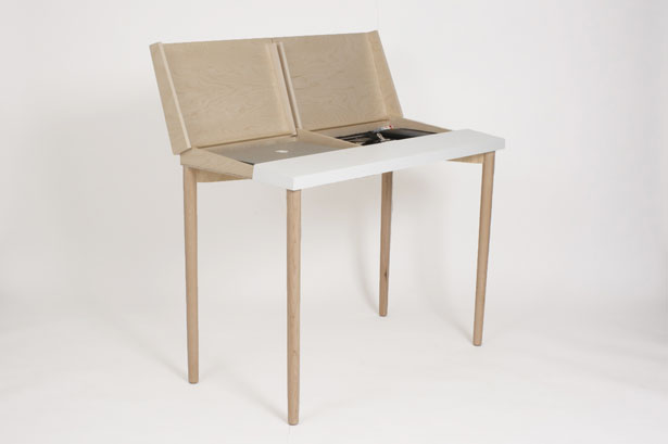 Slope Functional Desk Design by Jenk Design Office