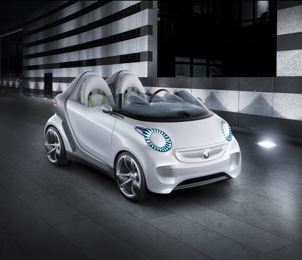 smart electric car concept