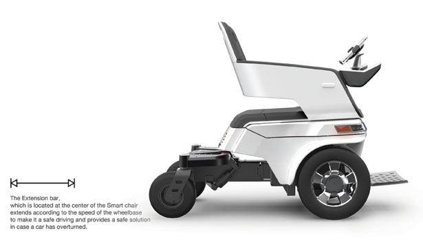 Smart Chair Mobility Aid Features Lightweight Magnesium Frame