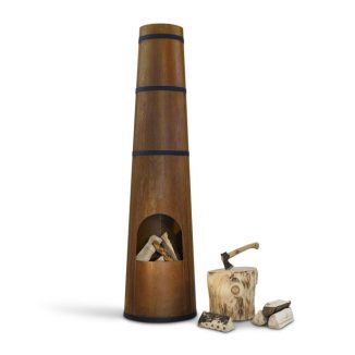 Industrial Style Smokestack Fireplace and Grill for Your Outdoor Area