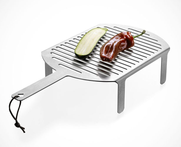Smokestack Fireplace and Grill by Frederik Roije