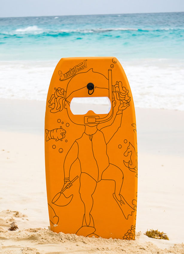 Snorkelboard - Swim Board with Anti-Fog Goggles