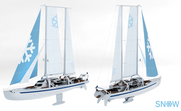 Snow 66 meters Sailing Yacht by DesignNobis