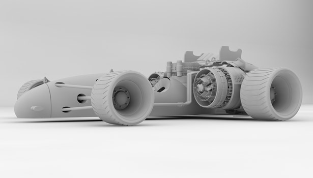 SoberPixels Red Racer F1 Racing Car by Ronald de Groot