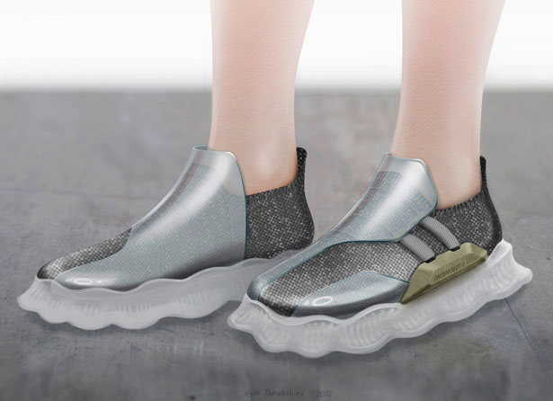 Sneaker-Creeper Concept Features Soft Robotic Sole by Ilyas Darakchiev