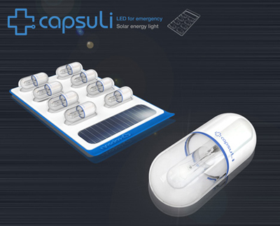 solar powered capsule LED