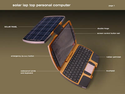 Solar Powered Notebook Concept