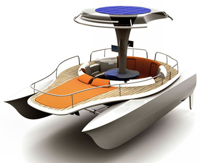 solar powered boat concept